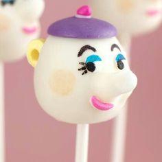 Mrs. Potts cake pops- Beauty and the Beast theme