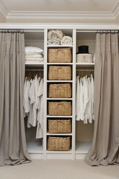 Open Closet Curtains Walk In 39 New Ideas Cool Teen Bedrooms, Bedroom Decor For Teen Girls, Small Room Bedroom, Diy Bedroom Decor, Bed Room, Trendy Bedroom, Bedroom Furniture, Closet Curtains, Beige Curtains