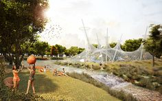 The Picnic Project, green regeneration, Leonidas Papalampropoulos, Georgia Syriopoulou, green neighborhood, Greece, mixed-use development, recreational spaces, communal spaces, water reservoirs, hydrobiotope, greenhouse, swimming pool, public spaces, public parks