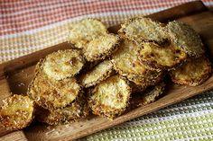 Smitten Kitchen - Zucchini Parmesan Crisps  (easy recipe; short list of ingredients; vegetables; cheese; appetiser; snack)