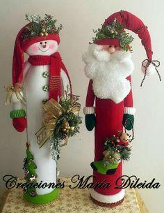 90 Mejores Imagenes De Munecos De Navidad En Tubos De Carton