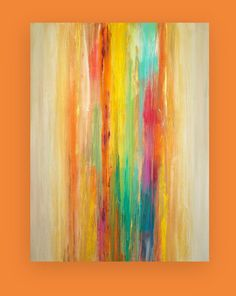 "Art Acrylic Abstract Painting Original Canvas Art Titled: WATERFALL 30x40x1.5"" by Ora Birenbaum on Etsy, Sold"