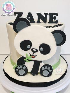 Rainbow Birthday, Boy Birthday, Birthday Cake, Panda Cakes, Bear Cakes, Fondant Cupcakes, Cupcake Cakes, Cake Decorating Videos, Cake Creations