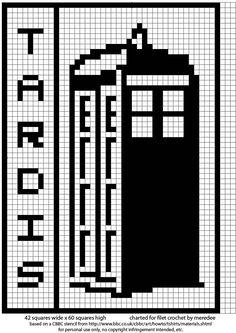 TARDIS Filet Crochet Pattern