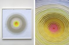 """18 Montage Spirale Blanche"" by Maud Vantours Paper Sculpture"