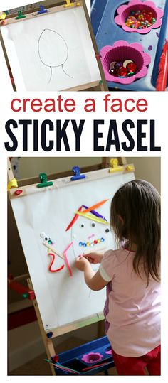 Create A Face Sticky Easel Activity