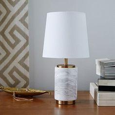 Small Pillar Table Lamp - Marble
