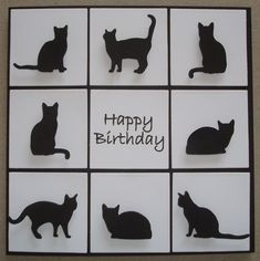 B074 Hand made birthday card using IO Cat Dies                                                                                                                                                                                 More
