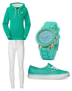 """Untitled #184"" by amna-hakeem on Polyvore featuring The North Face and Vans"