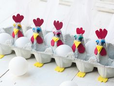 Looking for employment for children in the protected area? 3 tutorials on creation of egg carton - Easter Crafts Egg Carton Crafts, Egg Crafts, Preschool Crafts, Easter Crafts, Diy And Crafts, Crafts For Kids, Easter Art, Easter Eggs, Easter Bunny