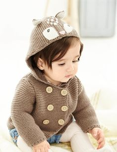 Our oh-so-sweet jackets are a lightweight option for those breezy days that don't quite call for a heavy coat. Large mock-wooden buttons make for easy dressing, while supersoft yarn will keep your baby extra cosy. We've even made them machine washable too.