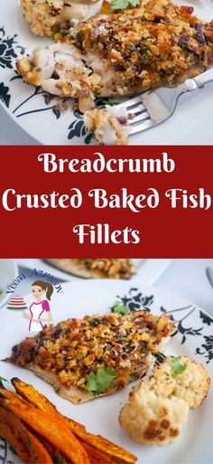 This breadcrumb crusted baked fish fillets are really simple, easy and effortless! breadcrumbs, fragrant Parmesan, fresh herbs add tons of flavor. The best part is it gets baked for just 15 minutes in the oven and you have a delicious healthy meal all good to go.