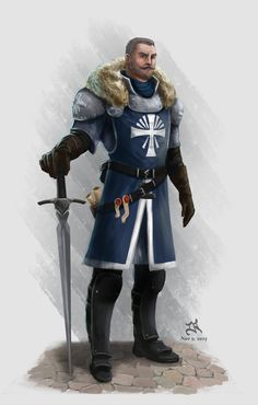 Male Human Fighter Knight or Paladin a