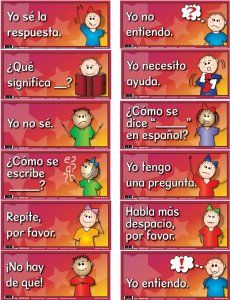 SPANISH COMMON CLASSROOM PHRASES BULLETIN BOARD SET