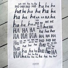 Karin Akesson 'Laughter Is The Best Medicine' Tea Towel - Karin Akesson from eggcup & blanket UK