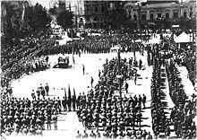 Red Army in Tbilisi Feb 25 Red Army of the Russian SFSR holds a military parade, 25 February 1921 in Tbilisi Fall Of Constantinople, Moscow Hotel, Georgia Country, Turkish Army, Classical Antiquity, Soviet Army, Grand National, Red Army, Black Sea