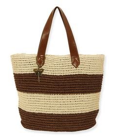 Brown & Cream Valetta Tote by Sun 'N' Sand #zulily #zulilyfinds