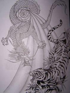 Tiger and Dragon tattoo by MikadosGirl on DeviantArt