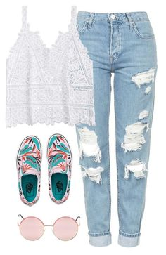 """Very cute, yet simple 40"" by lollypopz951 on Polyvore featuring Topshop and Vans"