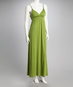 Take a look at this Avocado Sash Maxi Dress by Feathers on #zulily today!