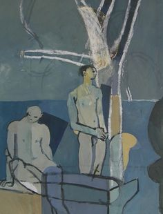 Keith Vaughan (British, 1912-1977) Blue Bathers 1952. Gouache on paper // Toby's Attic