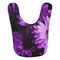 Purple Daisy Bouquet Bib
