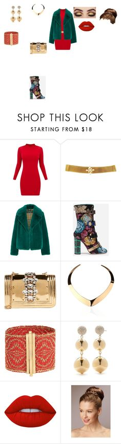 """chic outfit"" by helena94-1 on Polyvore featuring Burberry, Dolce&Gabbana, GEDEBE, Kate Spade, Lime Crime and polyvorefashion"
