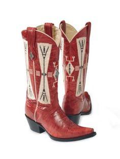 Diamond concho boots