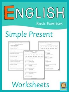 These worksheets for ESL lessons can be used to practice, to review or to test affirmative, negative and interrogative sentences in simple present. Affirmative sentences: unscramble the sentences, adverbs of frequency, change the sentences from plural to singular, fill in the blanks with verbs. Negative sentences: change the sentences from positive to negative. Interrogative sentences: Yes/No questions, ask for the underlined part, fill in the blanks with question words ....