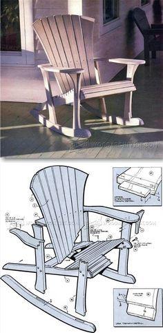 Adirondack Rocking Chair Plans - Outdoor Furniture Plans & Projects | WoodArchivist.com