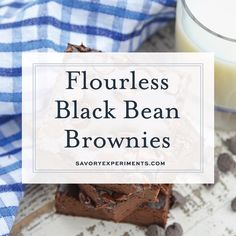 Recipes Snacks Videos Flourless Black Bean Brownies are a delicious, fudgy gluten free brownie recipe. Healthy brownie recipes have never tasted this good! Healthy Brownies, Gluten Free Brownies, Healthy Cake, Healthy Sweets, Healthy Baking, Healthy Brownie Recipes, Healthy Foods, Diabetic Brownie Recipe, Brownie Recipe Video