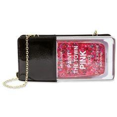 Betsey Johnson Pink Kitchi Nail Polish Shoulder Bag ($36) ❤ liked on Polyvore featuring bags, handbags, shoulder bags, pink, betsey johnson, pink handbags, betsey johnson purses, pink purse and pink shoulder bag