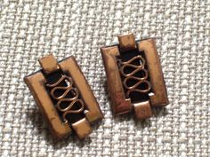 Renoir GRECIAN Earrings Vintage RENOIR Copper Clip by TheCopperCat