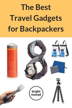 A selection of the best travel gadgets for travel. All the cool travel gadgets for backpackers that will make your trip easier, safer and more comfortable. Packing Tips For Travel, Travel Essentials, Budget Travel, Travel Ideas, Travel Hacks, Travel Advice, Packing Hacks, Travelling Tips, Packing Lists