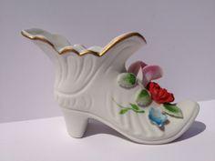 Vintage Ceramic Shoe by Prairiegirltreasure on Etsy, $4.95