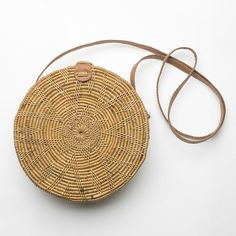 The Sol Round Rattan Bag | HartwoodHouse on Etsy