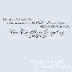 Wall Decal Gallery Wall Family Now We Have Everything on Etsy, $35.00