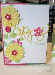 This cards was made using Stampin' Up new Crazy About You stamp set and Hello You thinlits from the new Occasions catalog.