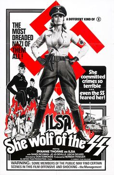 Ilsa She Wolf of SS poster (Nazi Exploitation film) Old Movie Posters, Horror Movie Posters, Cool Posters, Vintage Posters, Horror Movies, Creepy Movies, Retro Posters, Movie Titles, Cinema Posters