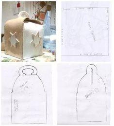 Risultati immagini per porta panettone in feltro cartamodello