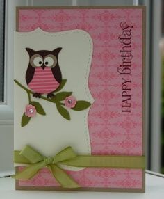 Stampin up Owl Punch cards