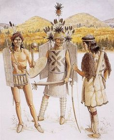 Native Americans from the forests of Eastern Canada, 17th C.