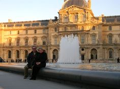 In front of the Louvre, Paris #travel #france