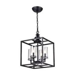 La Pedriza Antique Black Lantern Chandelier with Clear Glass Cylinders Outdoor Chandelier, Lantern Chandelier, Rectangle Chandelier, Candelabra Bulbs, Chandelier Lighting, Chandeliers, Modern Chandelier, Farmhouse Dining Room Lighting, Living Room Lighting