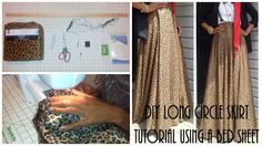 DIY| Long Circle Skirt Tutorial Part 1 | Using a Bed Sheet