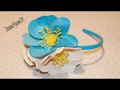 ОБОДОК с Цветами из Фоамирана/ DIY Eva Foam Flower Headband - YouTube