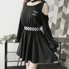Teen Fashion Outfits, Edgy Outfits, Cute Casual Outfits, Korean Outfits, Mode Outfits, Grunge Outfits, Girl Outfits, Grunge Dress, Black Outfit Grunge