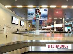 Publicidad Indoor en columnas volumétricas LAN - Aeropuerto El Dorado Fotos Campaña: http://www.efectimedios.com/htm/contenido.php/categoria/BLOG/bid/362