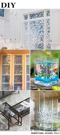 @rabbitgooing Rabbitgoo 3D No Glue Static Privacy Window Film Decorative Glass Mosaic Film 35.4in. By 78.7in. (90cm By 200cm)