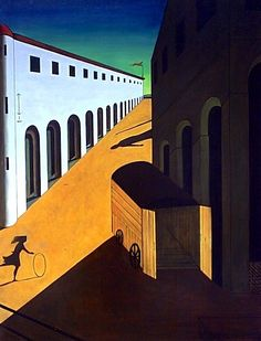 Giorgio De Chirico Famous Artworks his most notable works regularly include Roman arcades, long shadows, mannequins, and trains. He founded the Scuola metafisica craftsmanship development, which significantly affected the surrealist& movement. Picasso, Italian Painters, Italian Artist, Art Ancien, Famous Artwork, Max Ernst, Long Shadow, Art Moderne, Kandinsky
